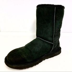 UGG Classic Short Black Boots Size 9
